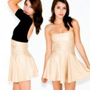 [American Apparel] Metallic Gold Disco Skirt Dress